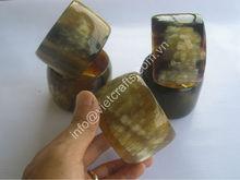Water buffalo horn bangle, horn cuff, horn bracelet. natural color 5cm wide