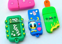 custom pvc usb flash 2.0 disk with embossed logo free sample and design file