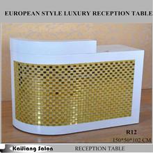2015 new half round salon reception desk used beauty salon furniture R12
