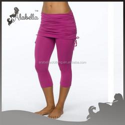 Wholesale elegant contain underdess&skirt sexy yoga leggings pant