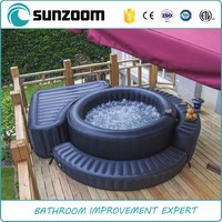 SUNZOOM round black laminated pvc cover inflatable spa tub