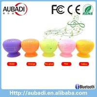 wholesale waterproof suction cup silicone mini bluetooth mushroom speaker