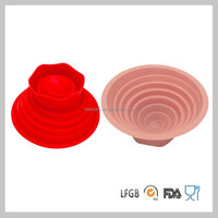 Durable Silicone Collapsible Bowl For Camping Eco-friendly