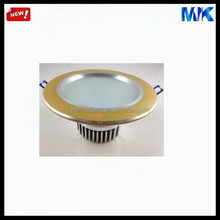 brass color led housing clear glass lamp shade round lamp shade metal lamp relector brass heatsink