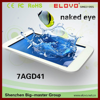 update technology phone tablet PC 7inch naked-eye 3D built-in 3G quad core Android4.2 wise sight