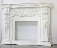 french style wood fireplace mantel