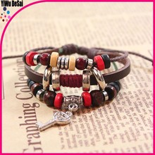 Europe and the United States to restore ancient ways manually couple key bracelets wholesale Korea fashion accessories
