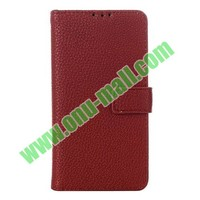 Litchi Texture Leather flip Case Cover Pouch for LG L90 D405 D410
