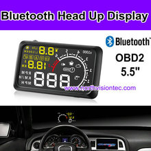 Aftermarket head up display with 5.5 inch LCD and alarm, can show you speed, water temperature, battery voltage