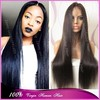 """Best 6A Quality 26"""" extra long silk straight virgin malaysian ponytail lace front wig for black women"""