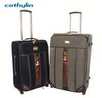 Trolley PU leather luggage case luggage locks for international travel