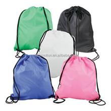 Small 210d nylon mesh draw string backpack sport sack