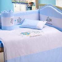 cute animal world comfortable 100% cotton seersucker guitar bedding sets