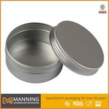 Aluminum small tin container, metal cake tin