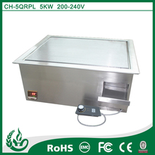 temperature resistant standing stainless steel electric induction teppanyaki