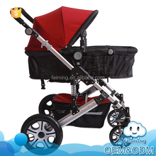 Wholesale baby products aluminum alloy seat reversible high landscape pushchair baby prams stroller 3-in-1 with a large space