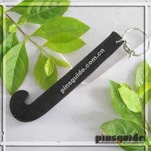 2014 Custom Eco-friendly PVC Hockey Keychain For Promo Gifts