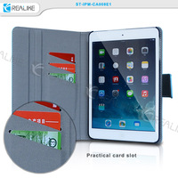 New arrival with card slots stand flip protector leather tablet case for apple ipad mini 4
