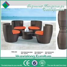 modern aluminium outdoor furniture garden bistro wicker used rattan furniture
