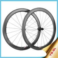 700c bike wheels carbon 16-24 hole lightweight carbon aero wheels Straight Pull 50mm tubular carbon bicycle wheels SL50T