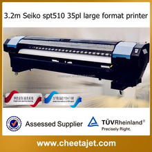 Immediate delivery high quality 3.2m YF-4000 Series Large Format Solvent Printer with Seiko 35pl/50pl head