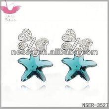 E90241 brincos de cristal austríaco - mar de rosas ( Crystal Red Rock )