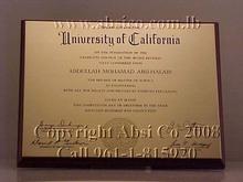 Engraved Brass Certificate / Award / Sign