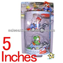 Wholesale Super Mario Bros Figure Mario Spring Onion caback cars 2pcsr