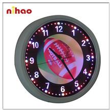 2015 New Style Round Illuminated Neon Wall Clock