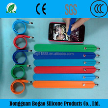 Silicone Wristband New Design Silicone Bracelets Touch Pen custom bracelet pens