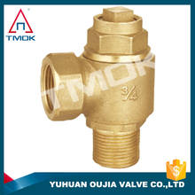 1/2 inch brass iron handle iron ball with polishing and nicekl-platedstop valve in TMOK