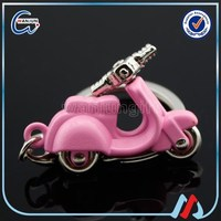 pink motorcycle keychain