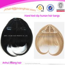 New Good Permeability natural real human hair clip bangs with superior quality,natural hair bang pieces,hair fringe bangs