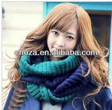 C60235A TOP FASHION COLOR SPLICING WINTER WOMEN THICK KNITTING SCARF