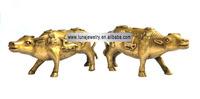 Big size Bronze Material OX Figurine , Fengshui OXstatue