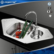 Various models factory directly north korea stainless steel double bowl round kitchen sink of POATS