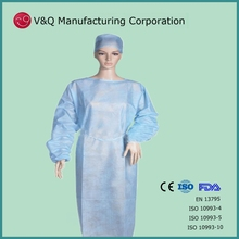 Nonwoven latex free OEM manufacturer isolation gown