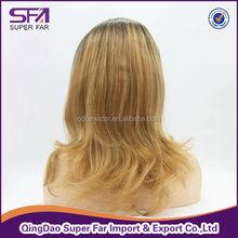 wholesale cheap china fashion two tone curly lace wigs