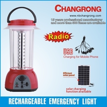 Rechargeable portable lantern emergency &automatic light with radio