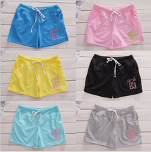 2015 Korean style candy color casual short hot shorts with belt
