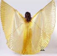 145cm Large Opening and Unopening Gold and Sliver Belly Dance Wing