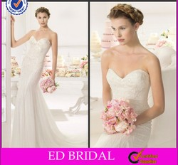 ST66 Gorgeous Sweetheart Heavy Beaded Sequined Sleeveless Imperial Bridal Gown 2015