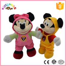 2015 Hot Selling Mascot Costume Plush Toy Mickey Minnie Mouse For Kids