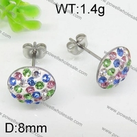 Good for promotion with fair price silver color earrings turquoise crystal