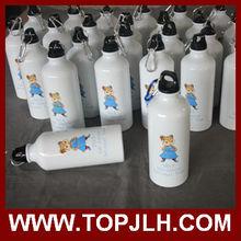 TopJLH 400/ 500ml/ 600ml Sublimation printable cheap custom white Sport water bottle Aluminum with cap