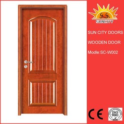 Double French lowes exterior wood doors home design SC-W002