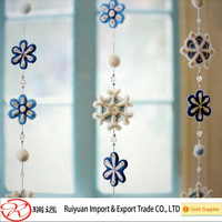 2014 Hot sale laser cutting felt snowflake christmas hangings for home decoration