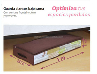 Non-woven fabric foldable quilt/blanket storage box with window