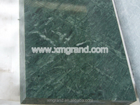 Laminate stair treads and risers, India dark green marble plus procelain tile