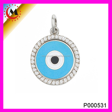 MOST UNIQUE HIGH QUALITY JEWELRY SILVER EVIL EYE PENDANT IN YIWU